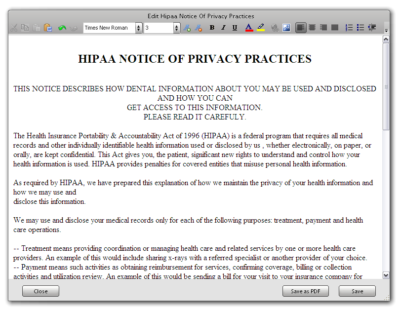 Configuring HIPAA Notice of Privacy Practices Acknowledgement Form ...