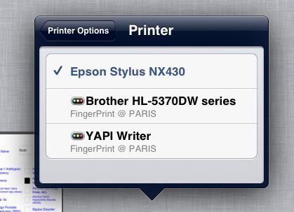 selectprinter