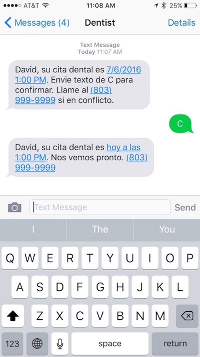 Send Appointment Reminders In Spanish Yapi